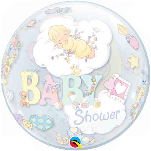 Precious Moments Baby Shower Party Supplies: Bubble Balloons