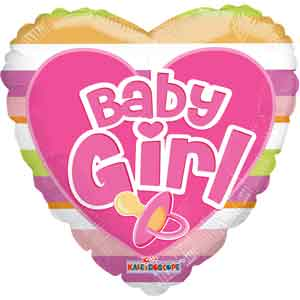 Baby Girl Big Letters Non-Foil Balloons