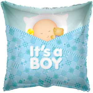 Baby Boy Sleeping Foil Balloons