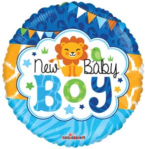 Baby Boy Jungle Non-Foil Balloons
