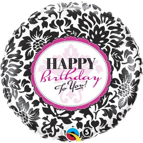 Birthday Elegant Damask Wholesale Balloons