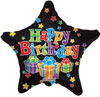 Birthday Big Dots Stars Foil Balloons