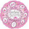 Birthday Princess Pink Foil Balloons