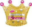 Birthday Princess Crown Junior Shape