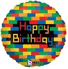 Birthday Blocks Foil Balloon
