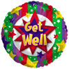 Get Well Colorful Burst Foil Balloon