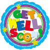 Get Well Colorful Foil Balloon