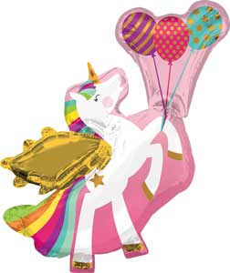 Winged Unicorn Balloon Shape