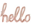 'hello' Rose Gold Script Balloon