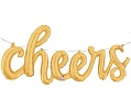 'cheers' Gold Script Balloon