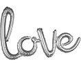 'love' Silver Script Balloon