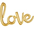 'love' Gold Script Balloon