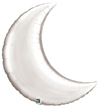 Crescent Moon - Silver Foil Balloons