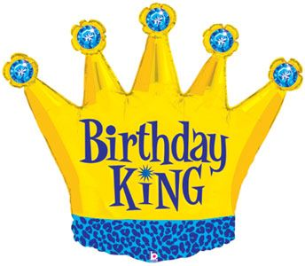 Birthday king crown wholesale balloon shape for Happy birthday crown template