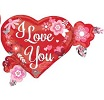I Love You Heart Flower Shape