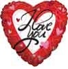 I Love You Stripes & Hearts Jumbo Foil Balloons