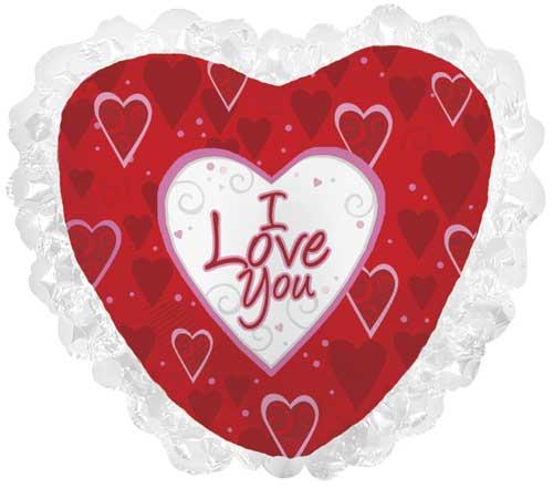 I Love You Swirly Hearts Foil Balloons
