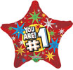 You're #1 Stars Foil Balloons