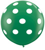 Polka Dots Around On Green