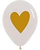 Heart Of Gold Latex Balloons