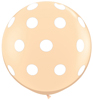 Big Polka Dots on Blush