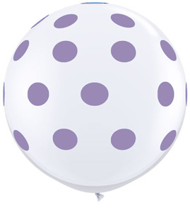 Big Spring Lilac Polka Dots on White (36 inch)