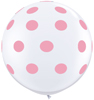 Big Standard Pink Polka Dots on White