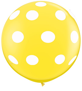 Big Polka Dots on Yellow (36 inch)