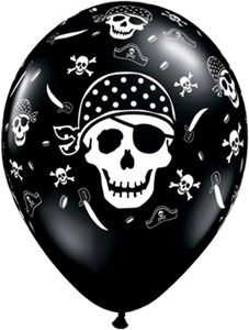 Pirate Skull and Cross Balloons