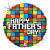 Father's Day Mosaic Foil  Balloon