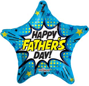 Father's Day Burst Foil Balloons