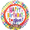 Singing Birthday Dots Foil Balloon
