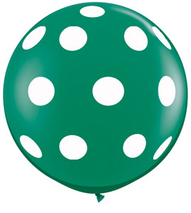 "36"" Emerald Green Polka Dots"