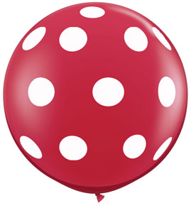Polka Dots Around (36 inch) Balloons