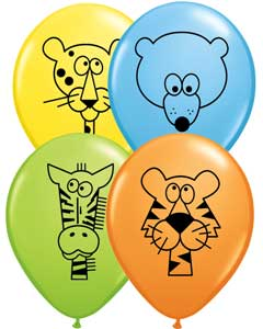 Jungle Animals Latex Balloons