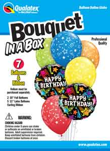 Bouquet In A Box Birthday Shooting Stars