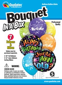 Bouquet In A Box Birthday You're How Old?