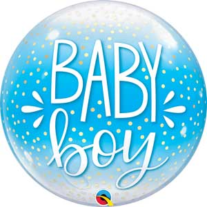 Bubble Baby Boy Blue/Confetti