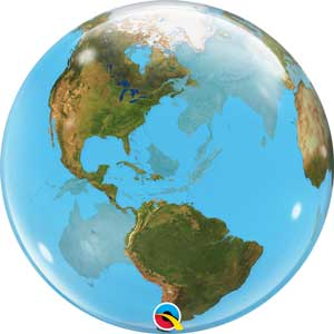 Planet Earth Bubble Balloon