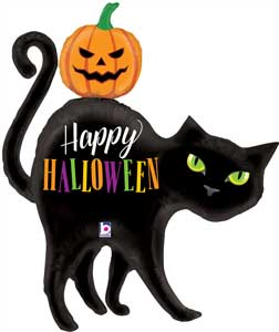 Black Cat Halloween Balloon