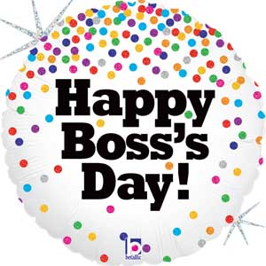 Boss's Day Confetti Foil Balloon