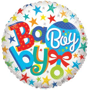 Baby Boy Rattle Foil Balloons