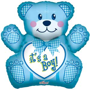 Baby Boy Bear Balloon Shape