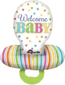 Baby Pacifier Shape Foil Balloons