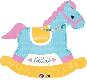 Baby Rocking Horse Balloon Shape