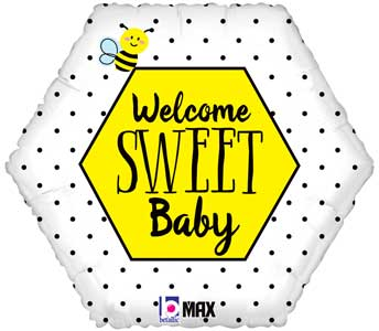 Welcome Sweet Bee Foil Balloons