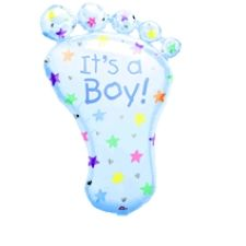 It's a Boy Foot Shape Foil Balloons