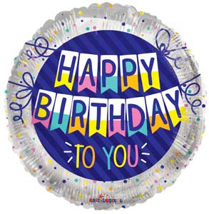Birthday To You Banner Foil Balloons