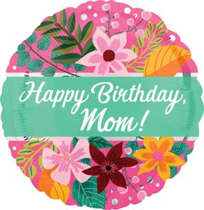 Birthday Mom Bouquet Foil Balloons