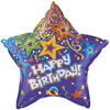 Purple Birthday Star Foil Balloons